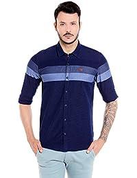 Donear NXG Indigo Blue Men's Slim Fit Casual Shirt