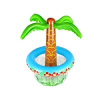 PRETYZOOM Inflatable Ice Bucket Coconut Tree Drink Coolers PVC Palm Tree Inflatable Cooler