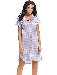 dn nightwear Damen Nachthemd TCB.7030 für Schwangerschaft und Stillzeit