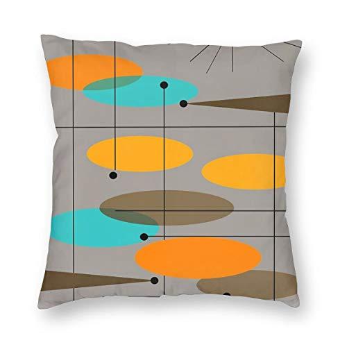 THsirtee Mid-Century Modern Ovals III Dekokissen Fall Platz Kissenbezug Kissenbezug Protektoren Für Sofa Bank Couch Autositz Bett 26