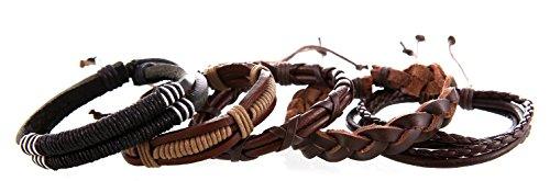 freundschaftsbaender leder DonDon® Lederarmband SET 5 Armbänder