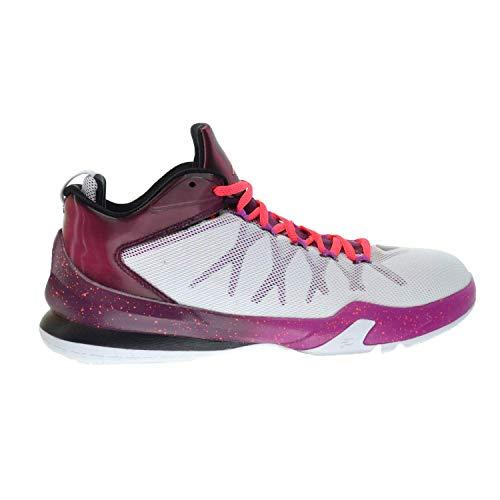 Jordan CP3.VIII AE Men's Basketball Shoes White/Infrared 23-Bordeaux-Fuchsia Flash 725173-113 (13 D(M) US)