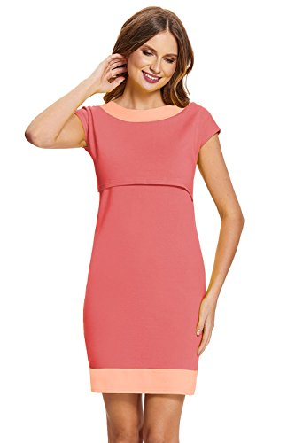 *Amyline – Stillkleid Milena strawberry/apricot Gr. M*