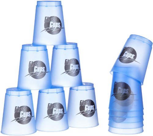 Flash Cups 1011 - Sport Stacking: FlashCups 12 Stück, mit Box+DVD, ice