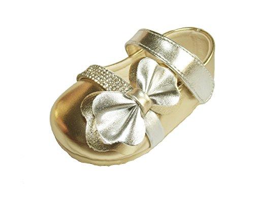 Cinda Baby-Mädchen funkelnde Partei Schuhe Gold