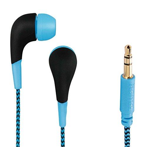 Hama 00093065 Neon Stereo In-Ear-Kopfhörer (102dB, 3,5mm Klinkenstecker) blau