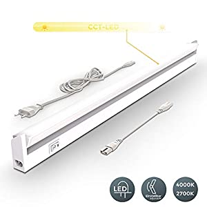 LED Unterbauleuchte Schwenkbar Küchenleiste Schrankleuchte Schranklampe weiß | 55,7 x 6,1 x 2,4 cm 8 Watt 450 Lumen | Lichtfarbe einstellbar | 2700 - 4000K