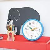 London Clock Reloj de pared con caja para colorear, color azul, 25,5 x 25,5 x 4 cm