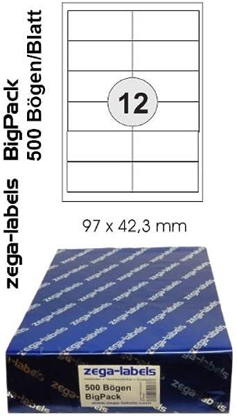 25 Blatt Laser Copy Inkjet 350 St Universal Etiketten 105 x 42,3 mm DIN A4