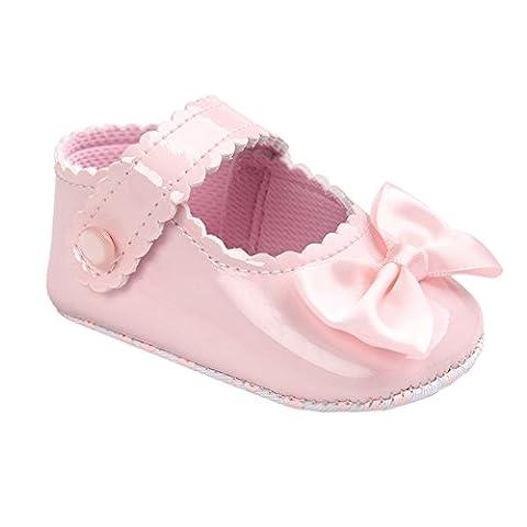 leap frog Sparkle Mary Jane, Chaussures premiers pas pour bébé (fille) - rose - rose, 0-6 mois