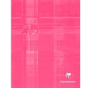 Cahier 17x22 - 32 pages - Séyès 4 mm - Couleurs assorties - Lot de 10