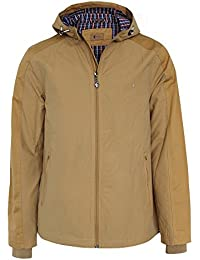 Gabicci Mens Festival Jacket in Honey-Zip Fastening-Two External Zip