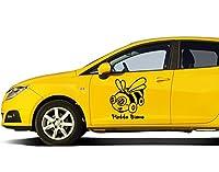 Autoaufkleber Flotte Biene B x H: 17cm x 20cm Farbe: flieder von Klebefieber®