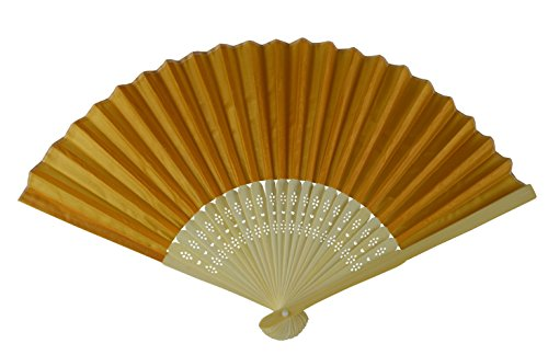 rangebow-shf18-dark-yellow-dark-gold-pack-of-10-wholesale-silk-fabric-hand-fan-bamboo-ribs-wedding-p