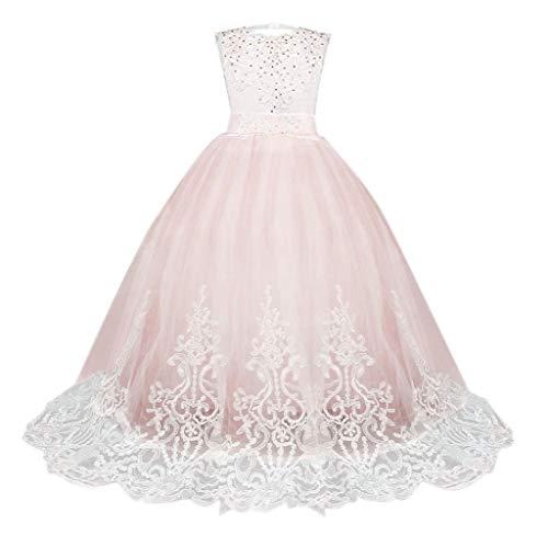 bobo4818 MäDchen Prinzessin Pageant Kleid Kinder Prom Ballkleider Hochzeitsgesellschaft Blumenkleider for 4-13 Jahre (Halloween-musik Tage Zwölf Von)