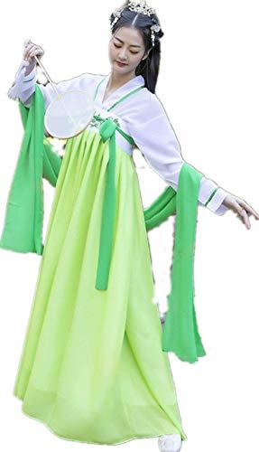 Tang Kostüm Dynastie - Susichou Traditionelle Kleidung Chinese Hanfu Studio Film und Fernsehen Kostüme Qi Brust Rock Obst grün Tang-Dynastie Kostüm Abschlussfoto