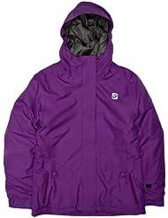 Rip Curl Girl's Sorcha - Chaqueta de esquí para niña, tamaño 12, color morado