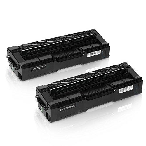 Preisvergleich Produktbild 2 Toner für Ricoh SPC250DN SPC250SF SPC250E - 407543 - Schwarz je 2000 Seiten