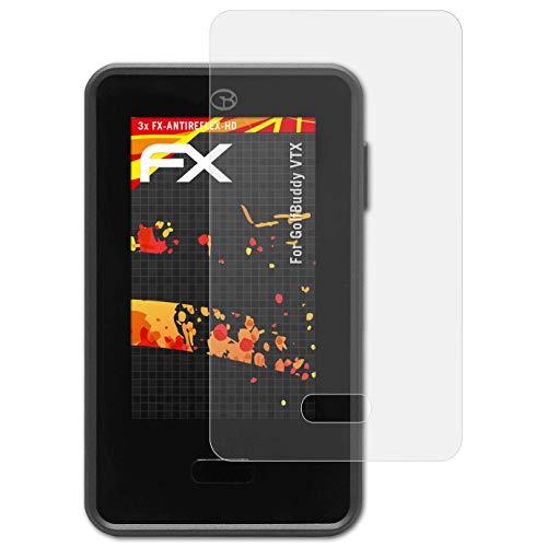 atFoliX Folie für GolfBuddy VTX Displayschutzfolie - 3 x FX-Antireflex-HD hochauflösende entspiegelnde Schutzfolie
