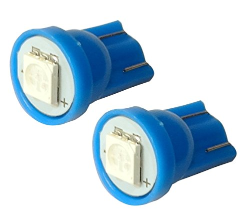 Aerzetix: 2x ampoule T10 W5W 12V LED SMD bleu veilleuses éclairage intérieur plaque d'immatriculation seuils de porte plafonnier pieds lecteur de carte coffre compartiment moteur