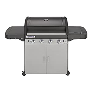 41FNO 2QyTL. SS300  - Campingaz 4 Series Classic LS Plus Gas BBQ 4 Burner Gas Barbecue Grill 12.8 KW Power Instaclean Easy Cleaning System Cast Iron Grid and Griddle with Side Burner