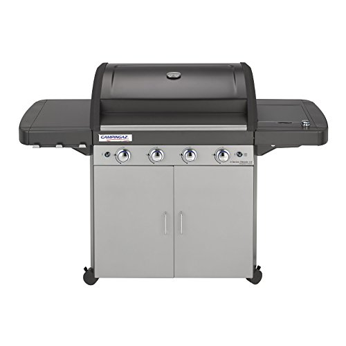 Campingaz Gas BBQ 4 Series Classic LS with Side Burner, InstaClean and Culinary Modular System - (Black/Silver, 89 x 65.5 x 50.5 cm)
