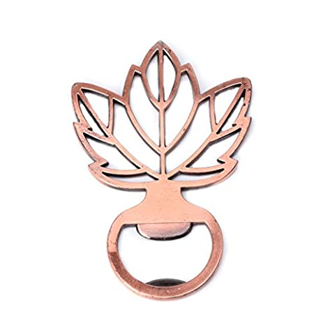Dairyshop Antique Copper Maple Leaf Beer Wine Bottle Opener Barware Tool Wedding Party