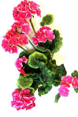 tatjana-land-deko Geranie künstliche Blume Kunstpflanzen Kunstblumen Geranienhänger Dekoration J1