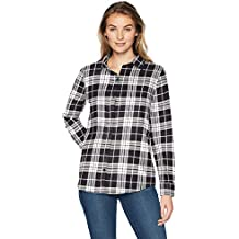 Amazon Essentials Camicia in Flanella a Manica Lunga Donna dc8201c6a11