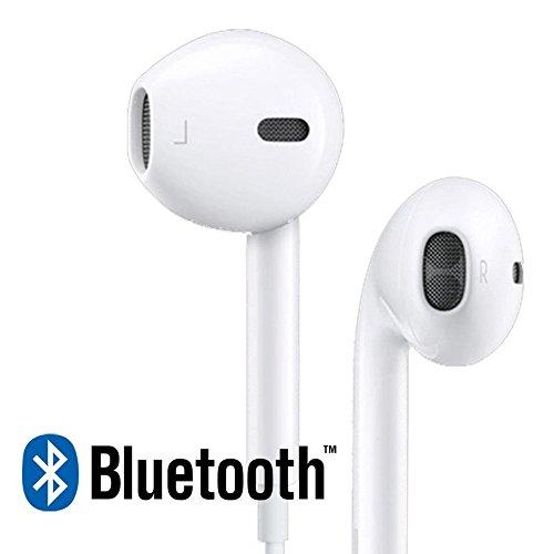 Iphone Bluetooth (BYBO Bluetooth Kopfhörer V4.1 + EDR Wireless Sport Stereo Headsetund Mikrofon der Freisprechfunktion In-Ear-Kopfhörer für iPhone 8 / 8plus / 7 / 7plus / 6s / 6 plus / 6/5 Samsung Galaxy S7 S6 Note und andere Android Smartphones - Weiß)