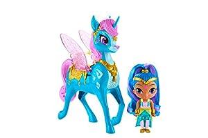 Shimmer and Shine- Shine y Zahracornio mágico Volador, muñeca con Unicornio de Juguete, Multicolor (Mattel GCM02)