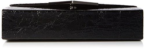 Swanky Swans - Anastasia Envelope Metallic Clutch Bag, Pochette da giorno Donna Nero (Black)