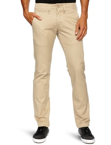 Quiksilver - Pantaloni, uomo, Marrone (Chino), 44 IT (30W/32L)