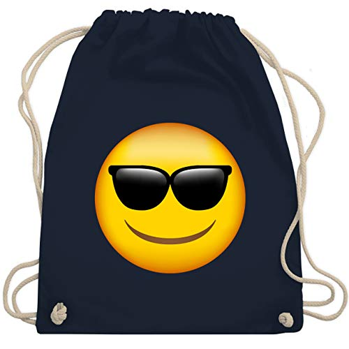 Comic Shirts - Emoji Sonnenbrille - Unisize - Navy Blau - WM110 - Turnbeutel & Gym Bag