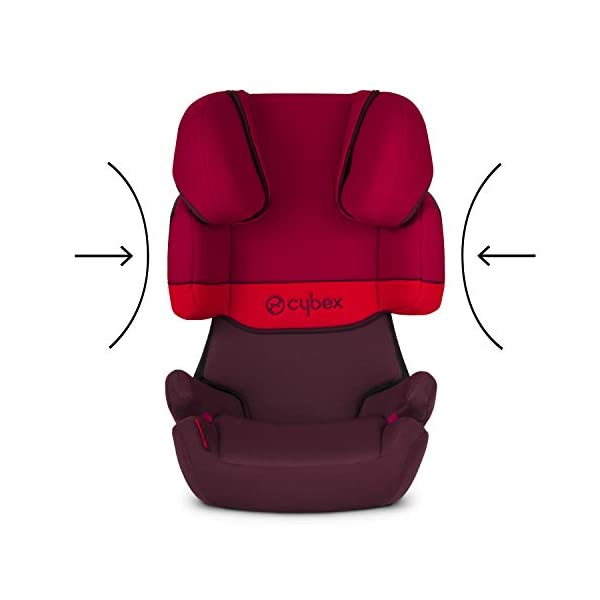 CYBEX Silver Solution X-Fix Child's Car Seat, For Cars with and without ISOFIX, Group 2/3 (15-36 kg), From approx. 3 to approx. 12 years, Rumba Red Cybex Sturdy and high-quality child car seat for long-term use - For children aged approx. 3 to approx. 12 years (15-36 kg), Suitable for cars with and without ISOFIX Maximum safety - 3-way adjustable reclining headrest, Built-in side impact protection (L.S.P. System) 11-way adjustable, comfortable headrest, Adjustable backrest, Comfortable seat cushion 4