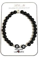 2 Partnerarmbänder, Armband mit Initialen, Armschmuck für Sie & Ihn, personalisierbar von Buchstaben & Länge, BRe-Art