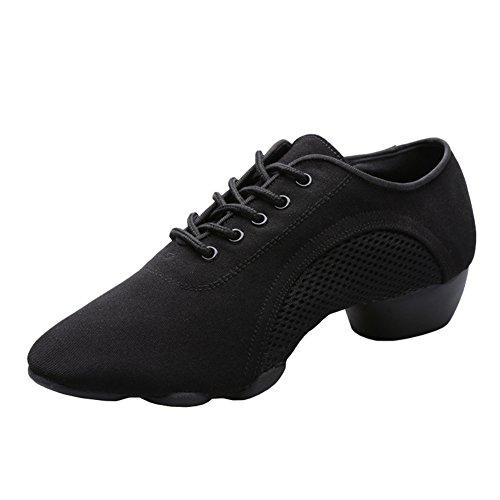 E Support™ Damen Sneaker Tanzschuhe Tanzsneaker Dancesneaker Jazzschuhe Schwarz  [B06X9J9XD4]