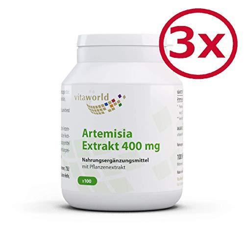3er Pack Vita World Artemisia annua Extrakt 30:1 400mg 300 Vegi Kapseln Apotheken Herstellung -