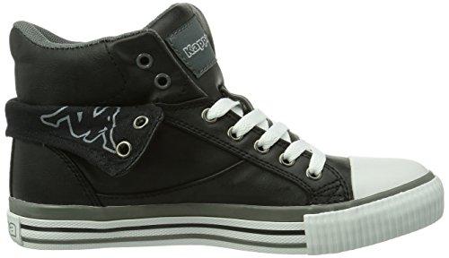 Kappa  BARON Footwear unisex, Baskets hautes mixte adulte Noir - Schwarz (1116 black/grey)