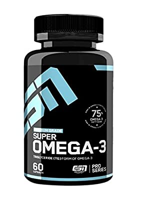 ESN Super Omega 3 Pro Series hochdosierte Fischoel Kapseln gehoeren zu den besten Omega-3 Kapseln auf dem Markt. 60 Kapseln, 1er Pack (1 x 90g Dose) (Elite Sports Nutrients - Made in Germany)
