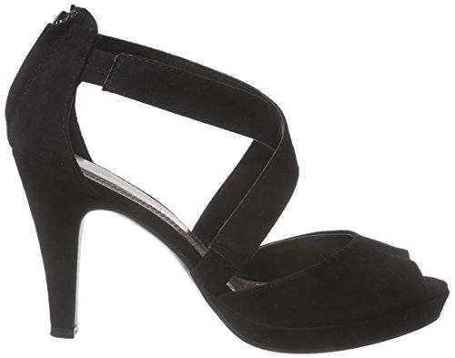 Jane Klain 283 579, Sandales Plateau femme Noir - Schwarz (Black 009)