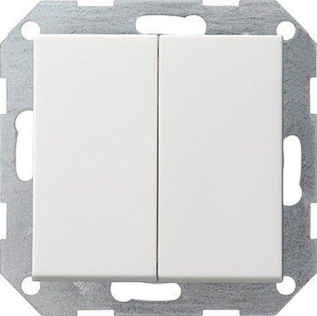 Gira 012527 Tastschalter Serien System 55, reinweiß  matt