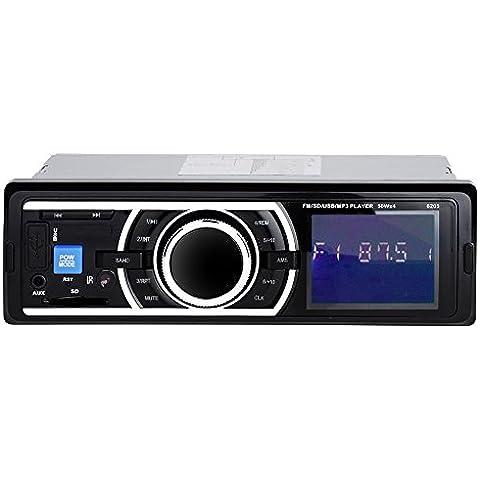 [Nueva Versión] Patuoxun Car Audio Estéreo Reproductor MP3/MP4 y radio AM/FM - Radio para coche , entrada USB SD Receptor