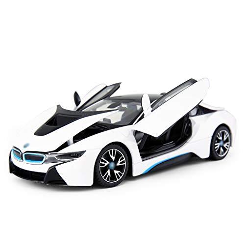 DUWEN-Modelo de coche BMW I8 Modelo de Coche Deportivo 1:24 Aleación de Coche de emulación Modelo de Juguete para niños de Juguete (Color : Blanco)