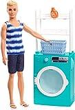 Barbie Mobilier coffret poupée Ken avec lave-linge et sèche-linge à tambour...