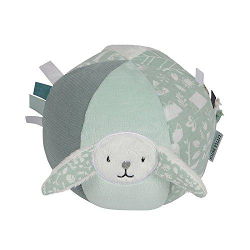 LITTLE DUTCH 4608 Baby-Ball Hase mit Rassel adventure mint -