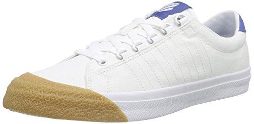 K-Swiss Herren Irvine T Low-Top Weiß (White/Brunner Blue/Dark Gum) 44 EU