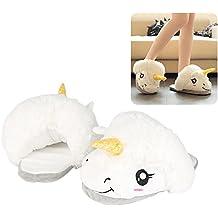 Super Lovely Cute adultos zapatos de algodón de felpa interior para mujer zapatillas de color blanco alfombrilla antideslizante