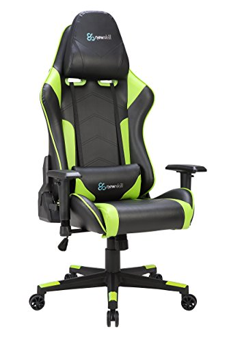 Newskill Kitsune - Silla gaming profesional (Inclinación y altura regulable, reposabrazos 2D ajustables, base en nylon, reclinable 180º), Color Verde