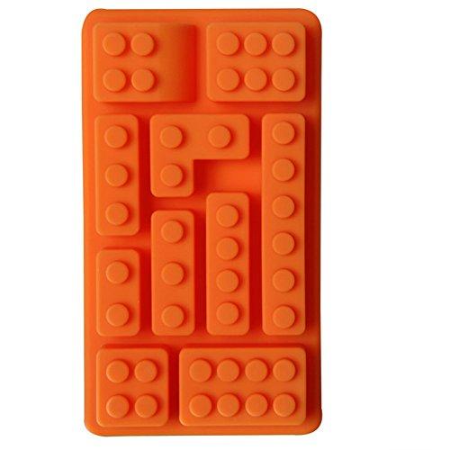 Minkle silikon Schokoladenform Legosteine und Figuren, Satz ,Für Eiswürfel, Schokolade, Süßigkeiten, Seife, Kerze, jello Buntstifte (Lego Brick-kuchen)